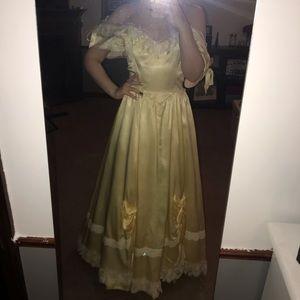 Vintage Yellow Prom Dress